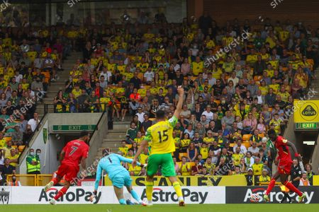 Ismaila Sarr of Watford scores a goal to make it 3-1 - Norwich City v Watford, Premier League, Carrow Road, Norwich, UK - 18th September 2021Editorial Use Only - DataCo restrictions apply