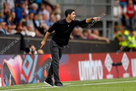Arsenal Manager Mikel Arteta   during the Premier League match between Burnley and Arsenal at Turf Moor, Burnley