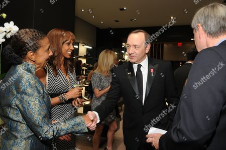 Dolores Robinson, Holly Robinson Peete and Kevin Spacey