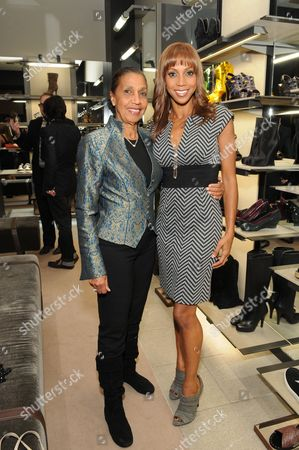 Stock Image of Dolores Robinson and Holly Robinson Peete