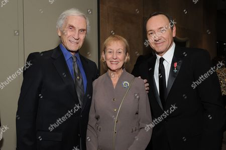 Peter Mark Richman, Helen Richman and Kevin Spacey