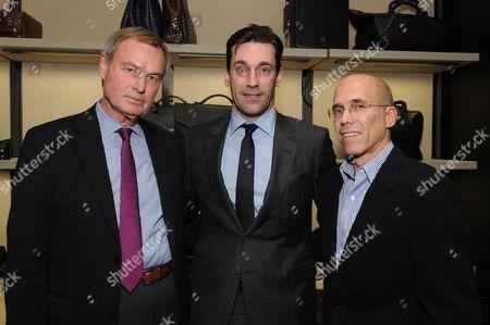 Stock Photo of Ken Scherer, Jon Hamm and Jeffrey Katzenberg