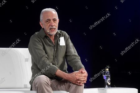 Stock Picture of Spanish film director Fernando Trueba takes part in the Hay Festival held in Segovia, central Spain, 19 September 2021.