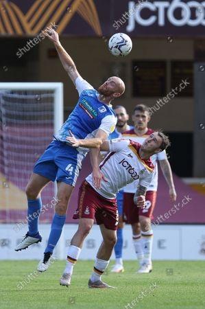 Jason Taylor of Barrow in action during the Sky Bet League 2 match between Bradford City and Barrow at the Coral Windows Stadium, Bradford on Saturday 18th September 2021.