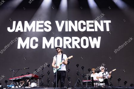 Stock Picture of James Vincent McMorrow Performing On The Main Stage At The Isle Of Wight Festival 2021