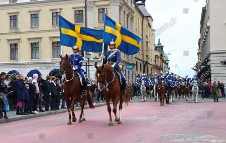 Riding military parade, Linkoping