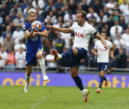 Tottenham Hotspur's Harry Kane during Premier League between Tottenham Hotspur and Chelsea  at Tottenham Hotspur stadium , London, England on 19h August  2021
