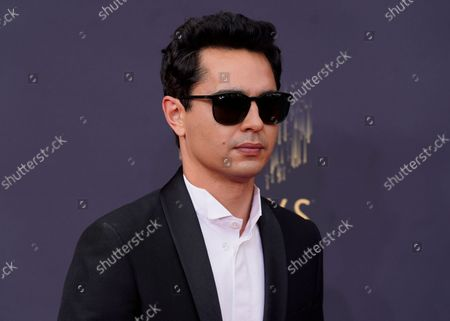 Stock Image of Max Minghella arrives at the 73rd Primetime Emmy Awards, at L.A. Live in Los Angeles