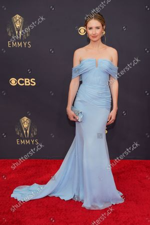 Caitlin Thompson arrives at the 73rd Primetime Emmy Awards, at L.A. Live in Los Angeles