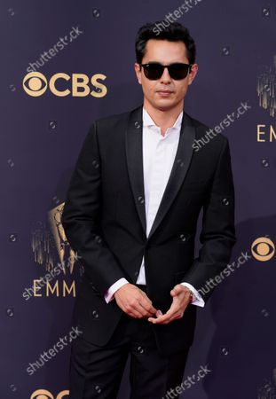 Stock Photo of Max Minghella arrives at the 73rd Primetime Emmy Awards, at L.A. Live in Los Angeles