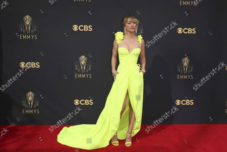 Stock Picture of Kaley Cuoco arrives at the 73rd Emmy Awards at the JW Marriott on at L.A. LIVE in Los Angeles