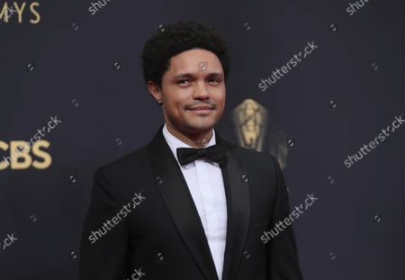 Trevor Noah arrives at the 73rd Emmy Awards at the JW Marriott on at L.A. LIVE in Los Angeles