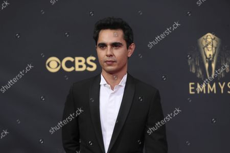 Max Minghella arrives at the 73rd Emmy Awards at the JW Marriott on at L.A. LIVE in Los Angeles