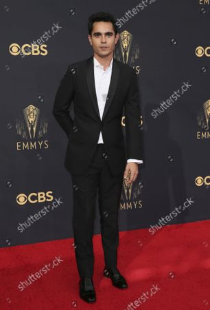 Stock Picture of Max Minghella arrives at the 73rd Emmy Awards at the JW Marriott on at L.A. LIVE in Los Angeles
