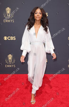 Editorial picture of 73rd Annual Emmy Awards taking place at LA Live, La Live, Los Angeles, California, United States - 19 Sep 2021