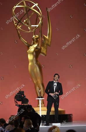 Adrien Brody presents the award for outstanding drama series at the 73rd Emmy Awards on at the Event Deck at L.A. LIVE in Los Angeles