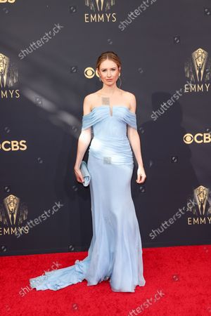 Caitlin Thompson attends the 73rd Primetime Emmy Awards at L.A. Live on Sunday, Sept. 19, 2021 in Los Angeles, CA.