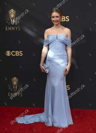 Caitlin Thompson arrives at the 73rd Emmy Awards at the JW Marriott on at L.A. LIVE in Los Angeles