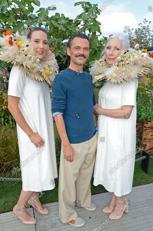 Tara Pain, Matthew Williamson and Valerie Pain at The Parsley Box Garden