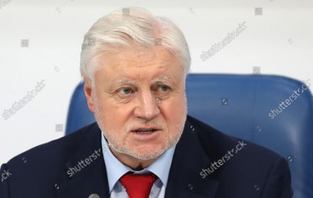 Just Russia political party leader, Sergei Mironov, attends a post-election press conference in Moscow, Russia, 20 September 2021. According to the preliminary information 195 representatives of United Russia, 15 representatives of the Communist Party, 7 representatives of A Just Russia, and 1 representative of the Liberal Democratic Party have won the State Duma (Russia's lower house of parliament) elections in single-member constituencies.