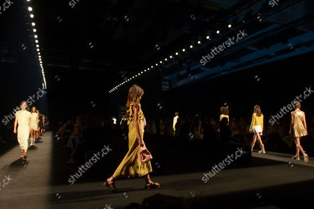 Stock Picture of Roberto Torretta's show during the MBFW Madrid (Mercedes Benz Fashion Week Madrid) Spring/Summer at Ifema in Madrid on September 17, 2021.