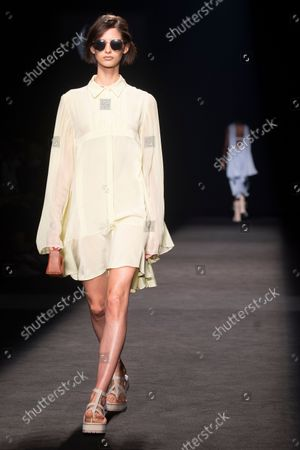 Roberto Torretta's show during the MBFW Madrid (Mercedes Benz Fashion Week Madrid) Spring/Summer at Ifema in Madrid on September 17, 2021.