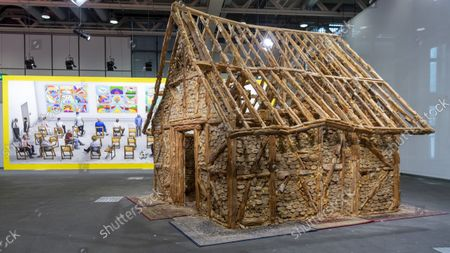 Stock Photo of An untitled artwork (Bread House, 2004 - 2006) by Swiss-born New York-based artist Urs Fischer is on display at the show Art Unlimited in the context of the international art show Art Basel, in Basel, Switzerland, 20 September 2021. Unlimited is Art Basel's exhibition platform for projects that transcend the limitations of a classical art-show stand, including out-sized sculpture and paintings, video projections, large-scale installations, and live performances.