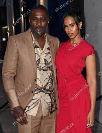 Stock Picture of Idris Elba and Sabrina Dhowre Elba