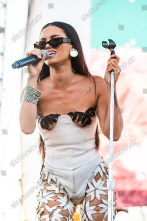 Sinead Harnett performs on Day Two of the Lights on Festival at Concord Pavilion on September 19, 2021 in Concord, California.