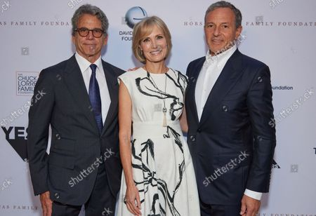 Eric Eisner, Willow Bay and Bob Iger