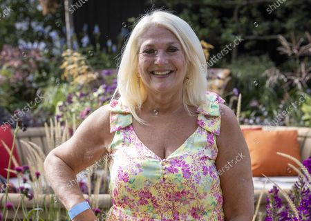 Journalist and presenter, Vanessa Feltz.Press day at the Chelsea Flower Show. It is the first time in the showÕs 108 year history that the event has been held in September.