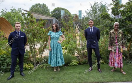 Ronan Keating, Alex Jones Jermaine Jenas and Arit Anderson at the BBC One Show and RHS Garden of Hope.Press day at the Chelsea Flower Show. It is the first time in the showÕs 108 year history that the event has been held in September.