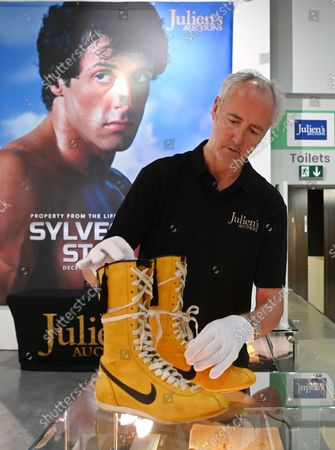 Editorial photo of Sylverster Stallone auction preview, London, United Kingdom - 20 Sep 2021