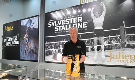 Editorial image of Sylverster Stallone auction preview, London, United Kingdom - 20 Sep 2021