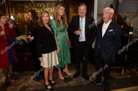 Simon and Joyce Reuben, Celia Walden and Piers Morgan