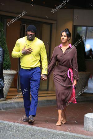 Idris Elba and Sabrine Dhowre