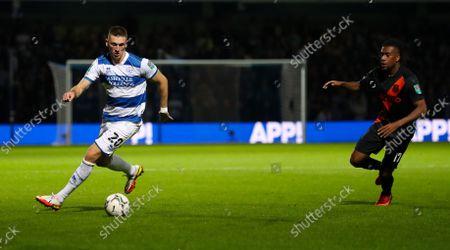 Jimmy Dunne of QPR  & Alex Iwobi of Everton