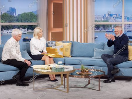 Stock Image of Phillip Schofield, Holly Willoughby, Professor David Wilson