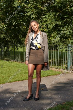Stock Picture of Presenter, Miquita Oliver, Street Style