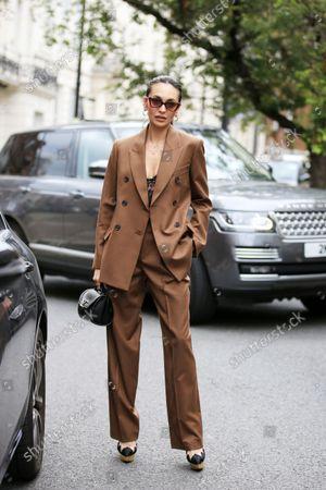 Editorial photo of Street Style, Spring Summer 2022, London Fashion Week, UK - 20 Sep 2021