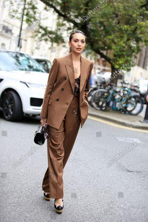 Editorial image of Street Style, Spring Summer 2022, London Fashion Week, UK - 20 Sep 2021