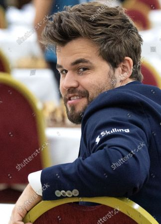 Editorial picture of Chess World Champion Magnus Carlsen at the 36th European Club Cup in Struga, Republic Of North Macedonia - 21 Sep 2021