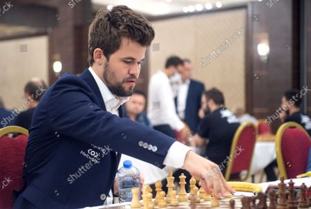 Editorial image of Chess World Champion Magnus Carlsen at the 36th European Club Cup in Struga, Republic Of North Macedonia - 21 Sep 2021
