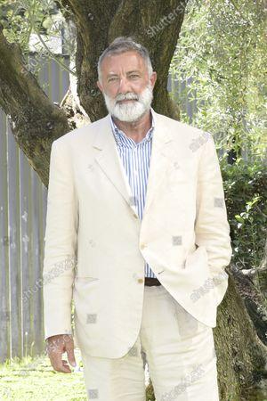 Stock Image of Luca Barbareschi at the photocall of the Rai fiction Fino all'ultimo battito at the Rai headquarters in Viale Mazzini.