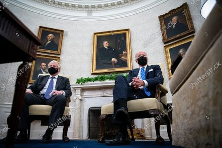 United States President Joe Biden meets with Prime Minister Boris Johnson of the United Kingdom in the Oval Office of the White House in Washington, DC, on Tuesday, September 21, 2021.