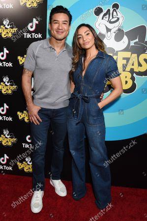 Stock Photo of Mario Lopez with wife Courtney Mazza