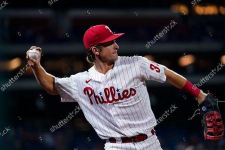 Philadelphia Phillies' Luke Williams plays during an interleague baseball game against the Baltimore Orioles, in Philadelphia