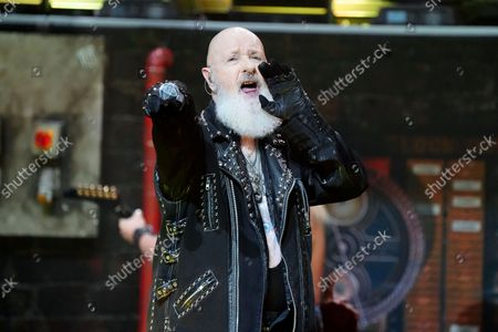 Rob Halford of Judas Priest performs at the Rosemont Theatre on Monday, Sept. 20, 2021, in Rosemont, Il.