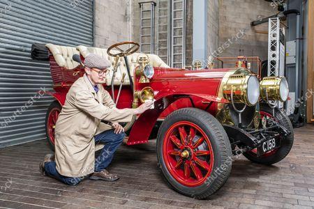Editorial image of Mr Toad's car inside the National Motor Museum, Beaulieu, Hampshire, UK - 09 Sep 2021