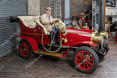 National Motor Museum's Ben Wanklyn in Mr Toad's car.  Mr Toad's car from Wind in the Willows has gone on display after a painstaking restoration following years of neglect.  The vehicle was made for the 1996 film adaptation of Kenneth Grahame's classic 1908 children's book starring Terry Jones as the obsessive amphibian.  The car, which appears to be from the Edwardian era, was actually built in 1995 at Shepperton Studios for the film.  Following the film's release, it was transported to America, where it spent many years hanging from the ceiling of a Florida restaurant.  It was brought back to Britain last year in a dilapidated state and has been restored at the National Motor Museum workshop in Beaulieu, Hants, where visitors can see it driven around the grounds.
